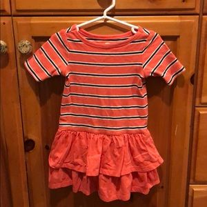 Lightly worn- Tea Collection Striped dress 2T